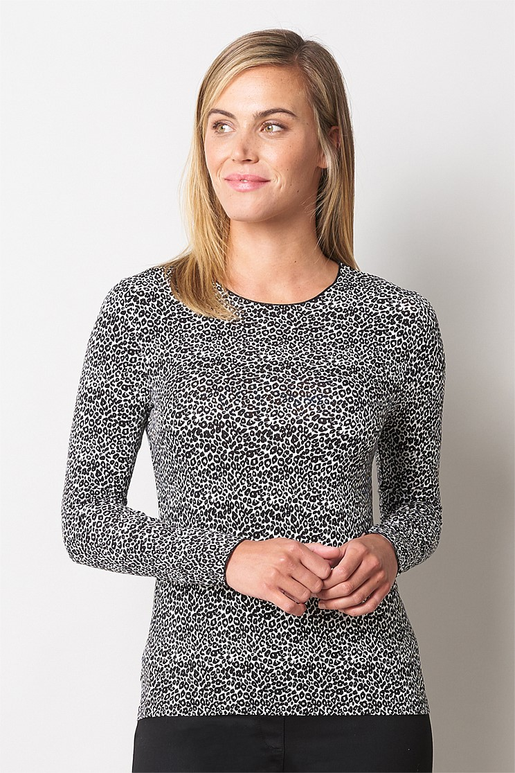 Long Sleeve Crew Neck Top