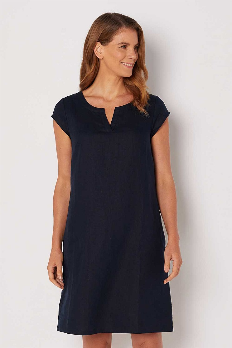 Cap Sleeve Pocket Dress