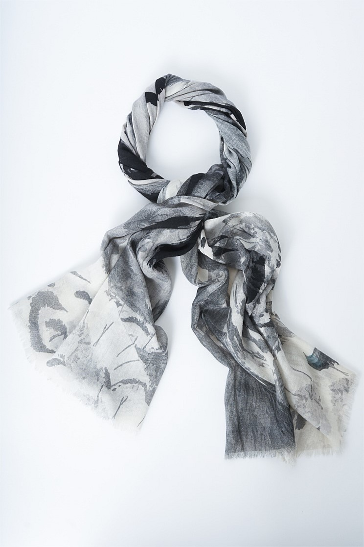 Abstract Cashmere Blend Scarf