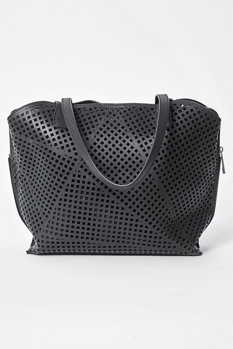 Black Laser-cut Bag