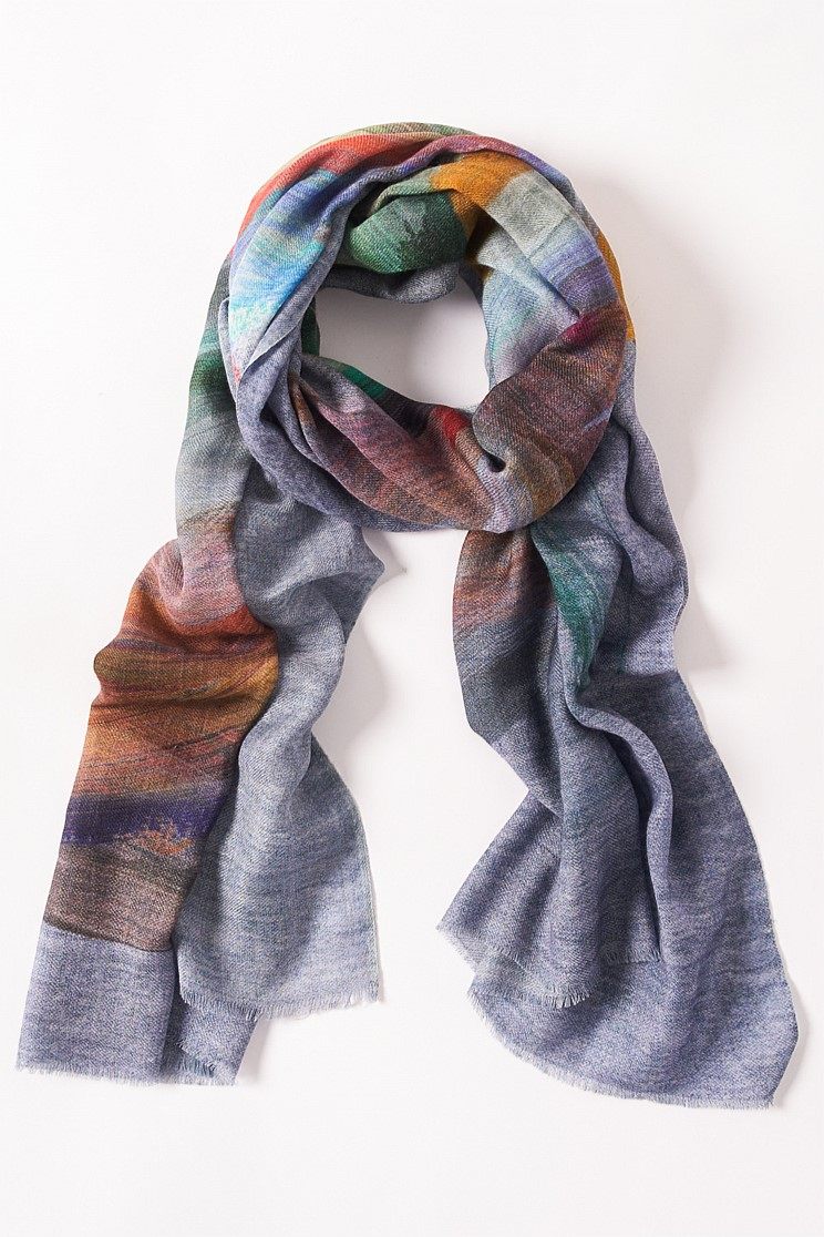 Multi Paint Strokes Scarf