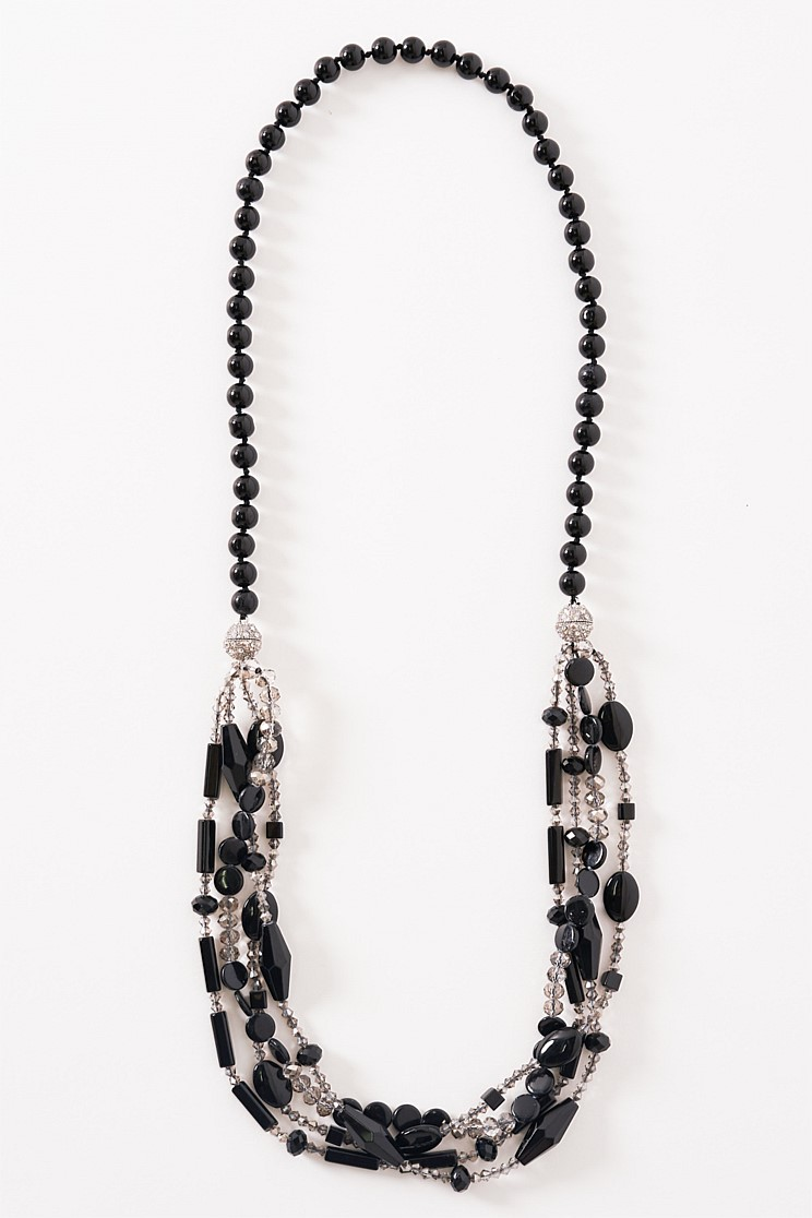 Black Magnetic Beaded Necklace