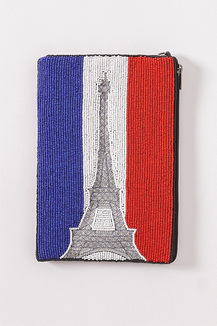 Eiffel Tower Beaded Cosmetic Bag