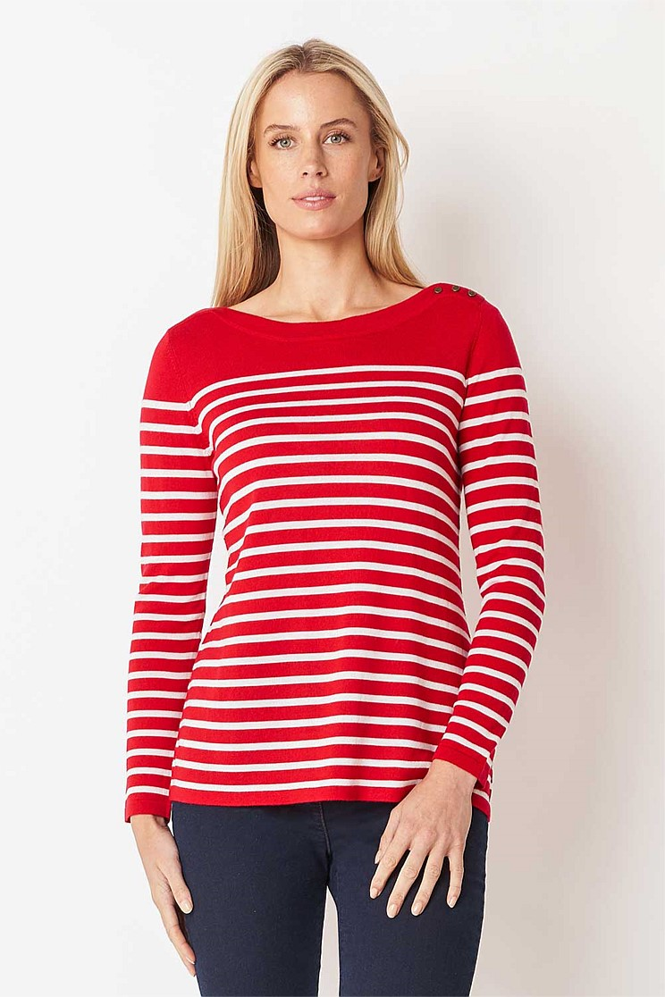 Merino Wool Striped Knit