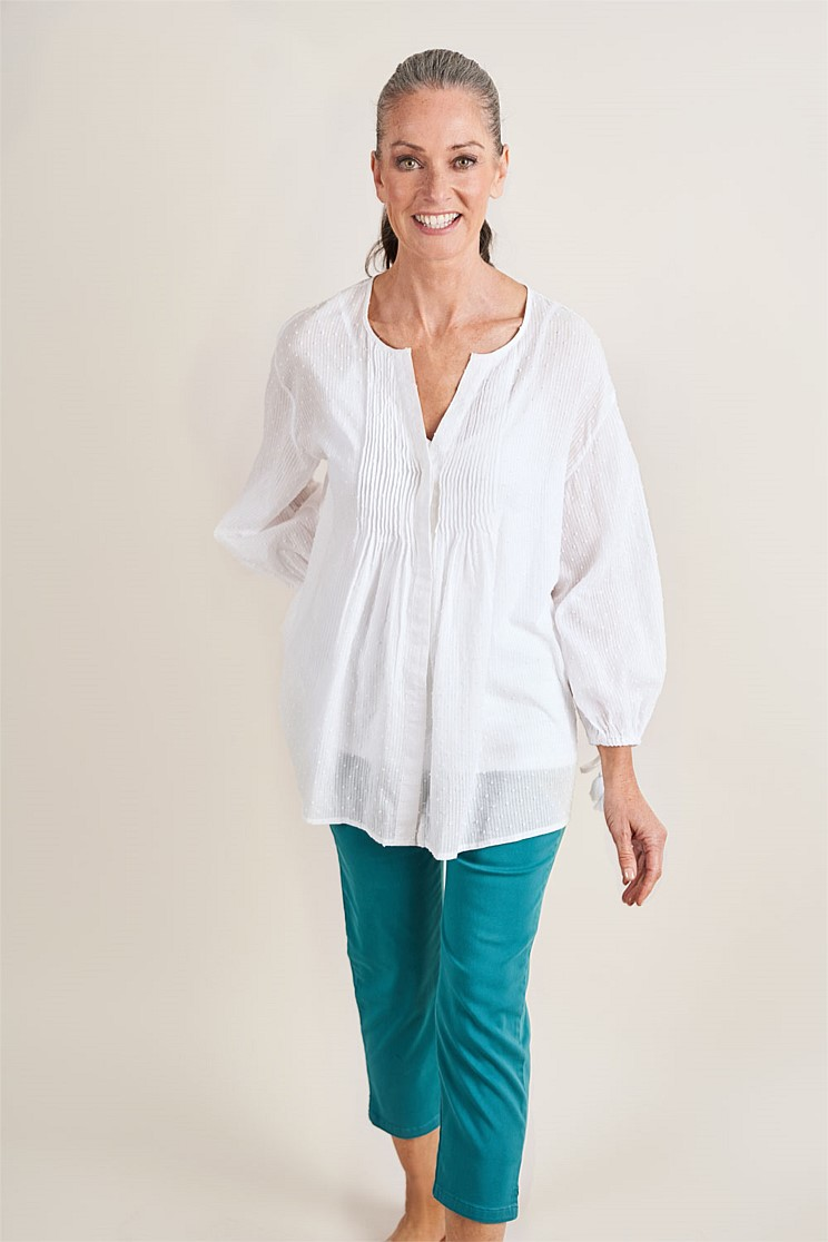Dobby Cotton Blouse