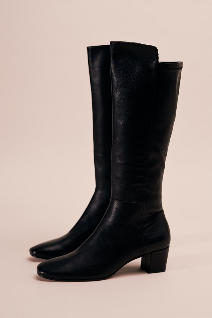 Harper Step Knee Leather Boot