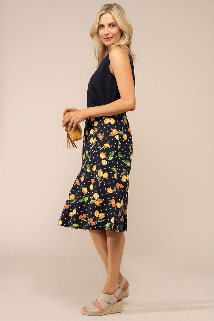 Stretch Linen Skirt
