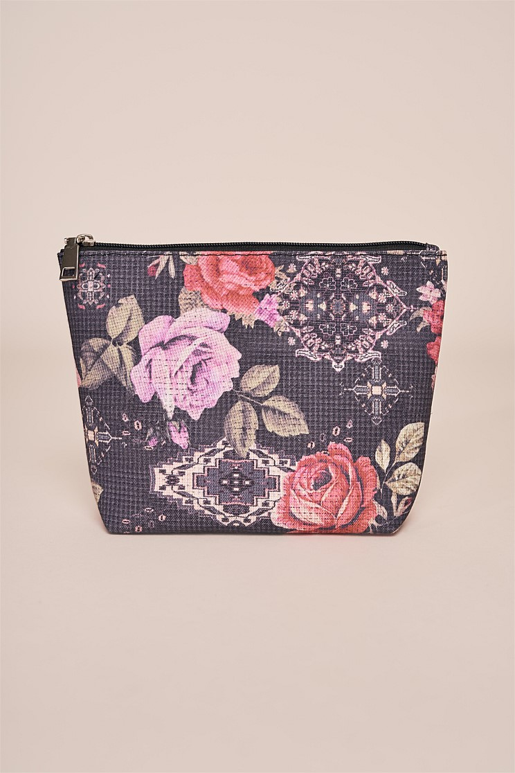 Tapestry Rose Cosmetic Bag