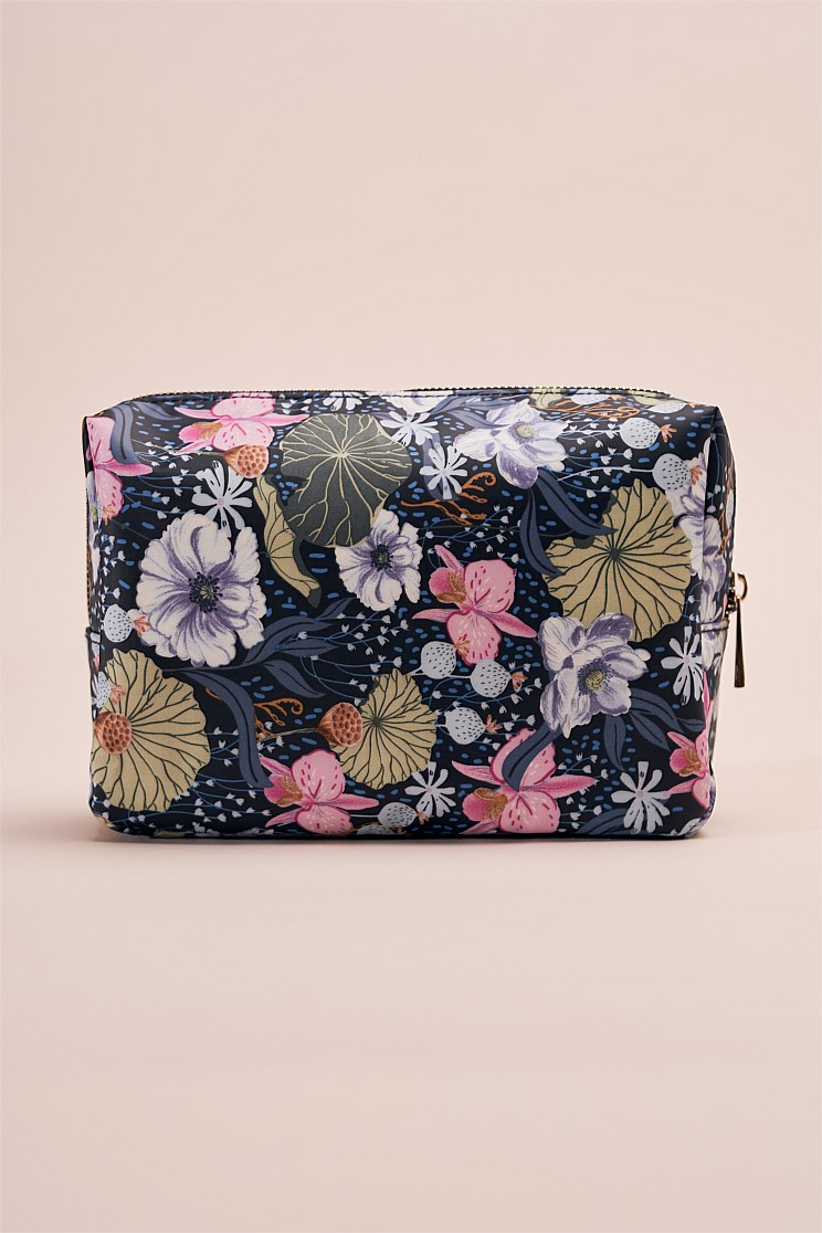 Freesia Cotton Toiletry Bag