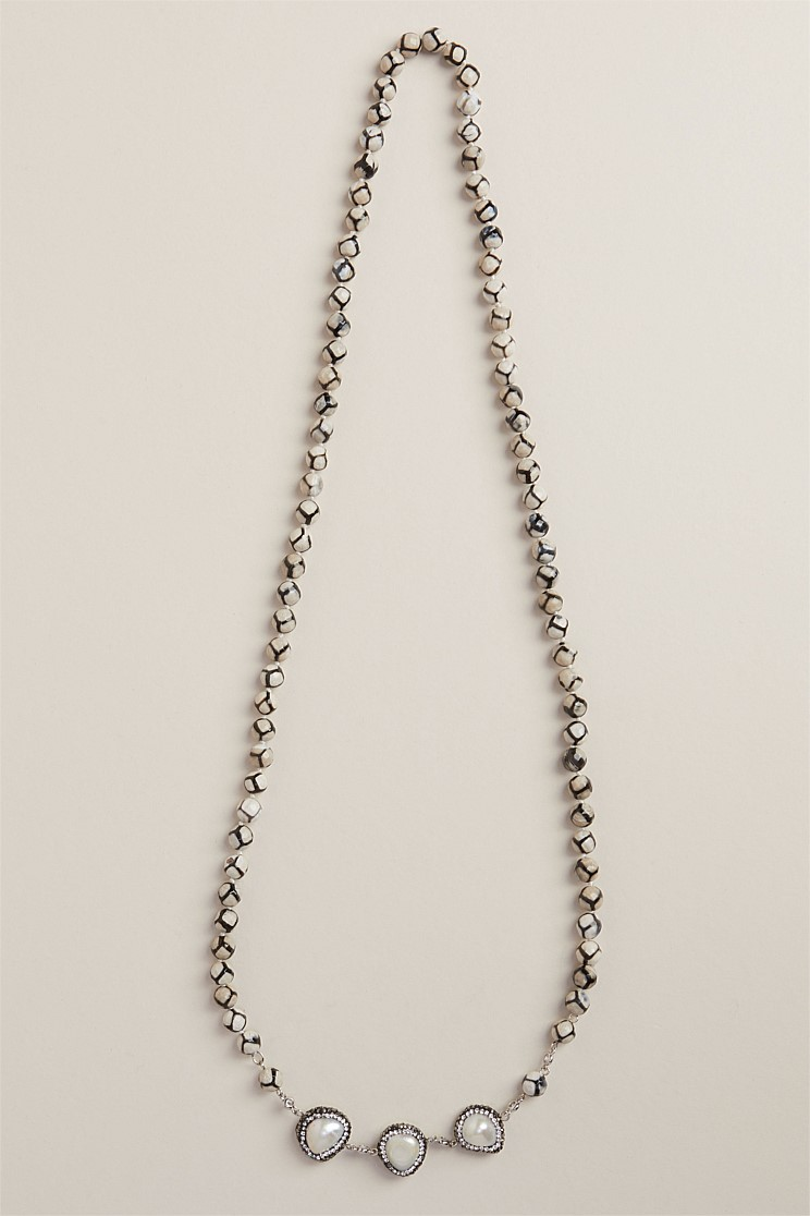 Freshwater Pearl Boulder Necklace