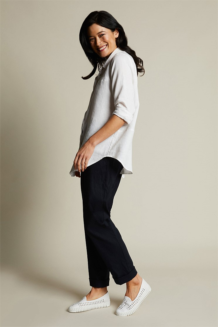 Relaxed Jogger Linen Pant