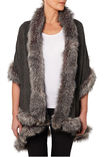 Nala Faux Fur Layered Wrap