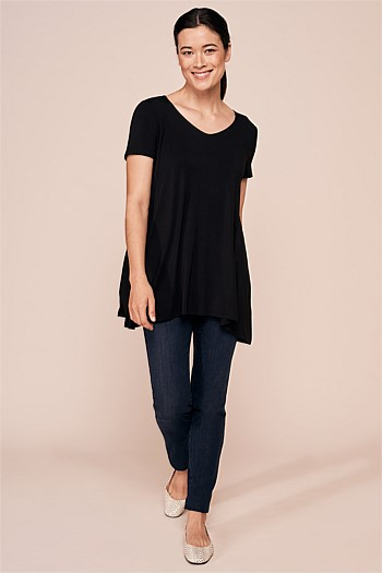 Trapeze V-Neck Top