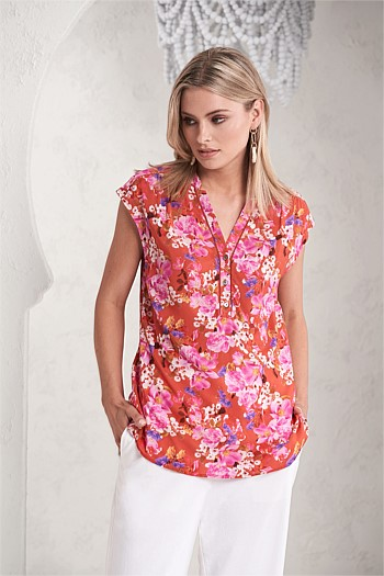 Provence Floral Top