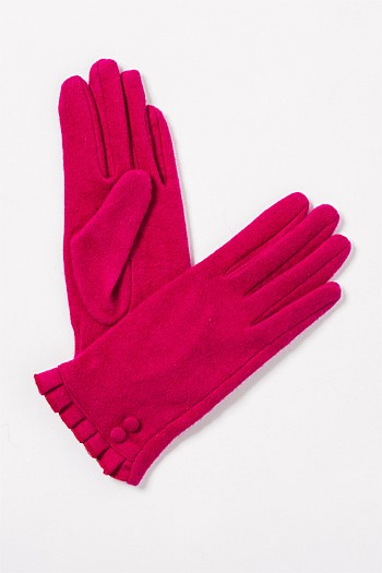 Ellie Button Ruffle Glove