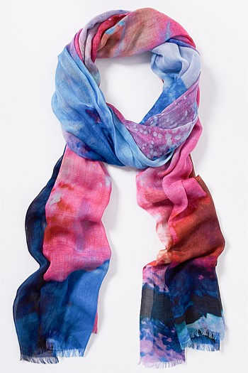 Pink Watercolour Scarf