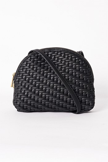 Woven Cross-body Bag