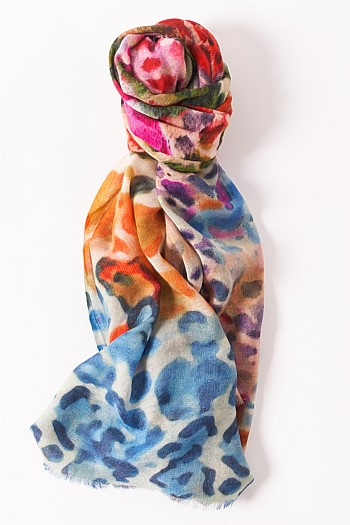 Multi Animal Print Scarf