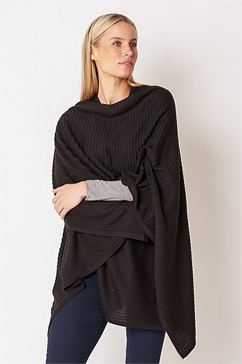 Black Ribbed Wrap