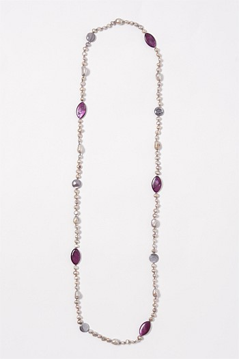 Violet Freshwater Pearl Necklace