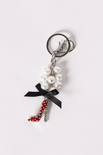 Red Stiletto Bling Keyring