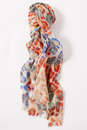 Bright Multi Animal Print Scarf