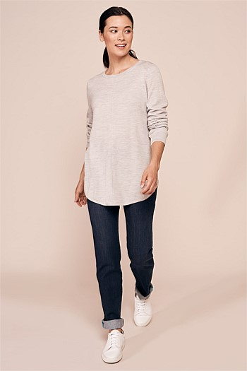 Scoop Hem Knit