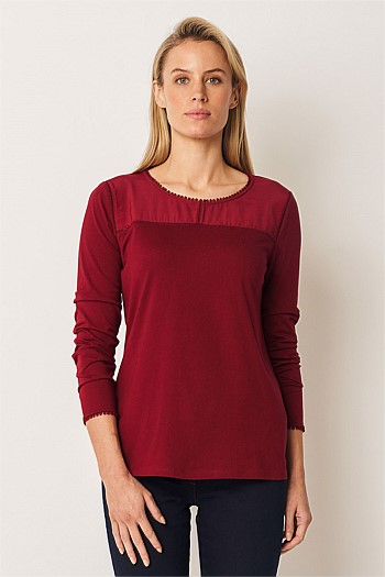 Cotton Modal Long Sleeve Top