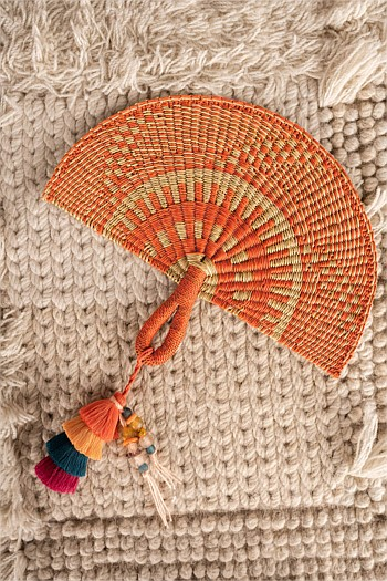 Hand Woven Fan with Tassel
