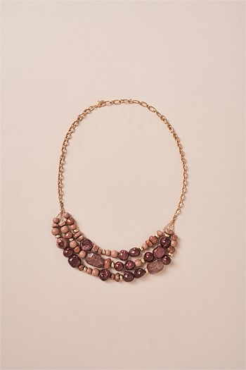 Mixed Dusty Pink Neclace