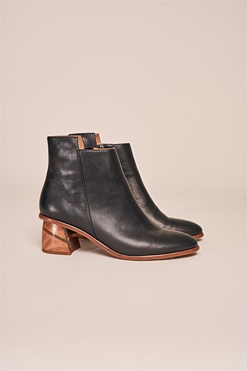 Mae Leather Ankle Boot