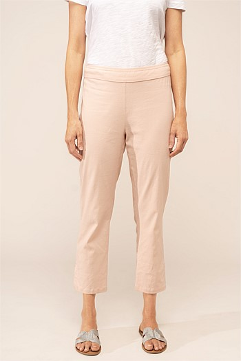 Stretch Linen Capri Pant