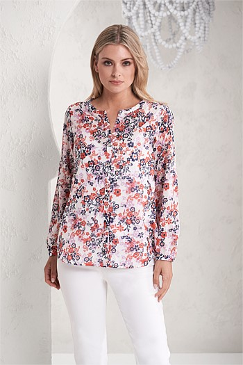 Jardin Print Cotton Shirt