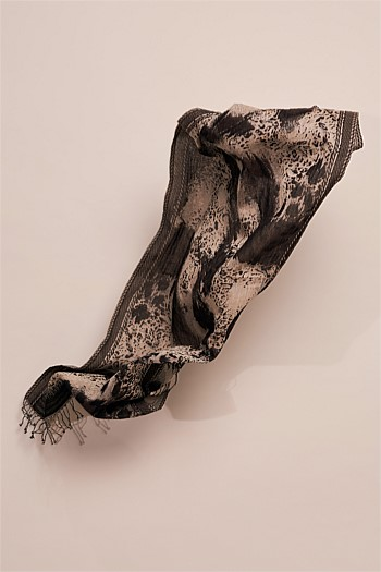 Abstract Animal Tassel Scarf