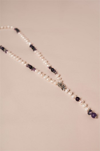 Pearl and Purple Shell Lariat