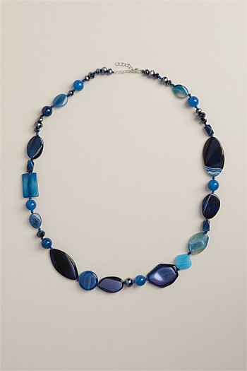 Ocean Semi Precious Beaded Necklace