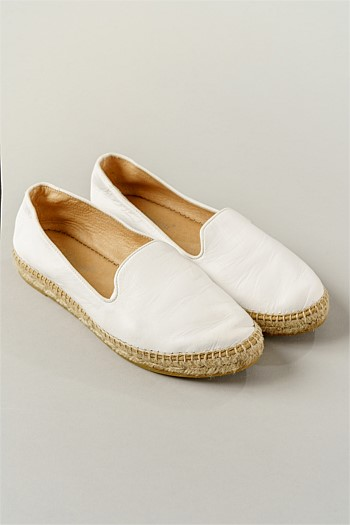 Lady Bianco Leather Espadrille