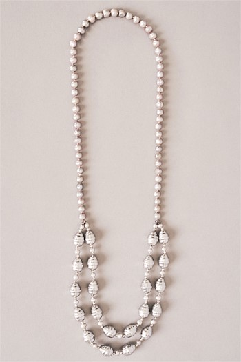 Grey Water Pearl Multirow Necklace