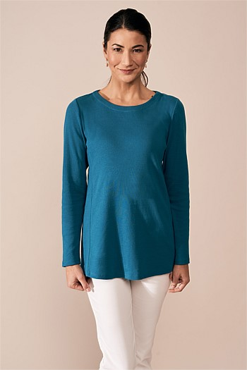Cotton Jacquard Top