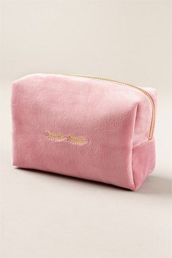Velvet Pink Medium Cosmetic Bag