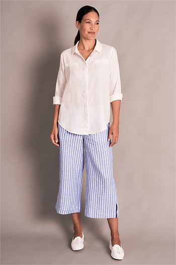 Stripe French Linen Culotte