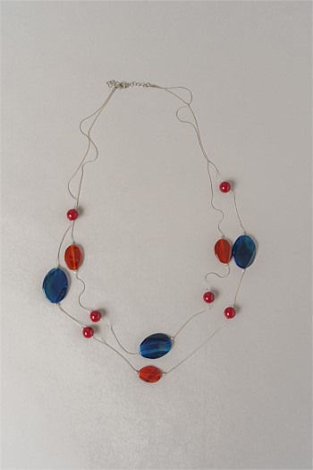 Mixed Stone Station Necklace