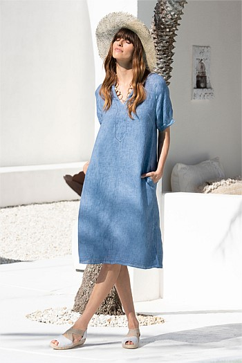 Raglan French Linen Dress
