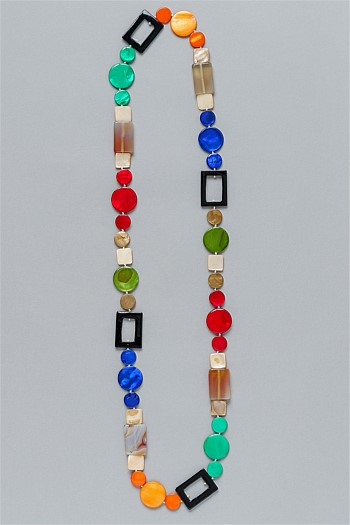 Jewel Tone Cutout Necklace