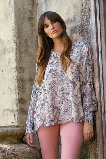Je T'Aime Printed Blouse