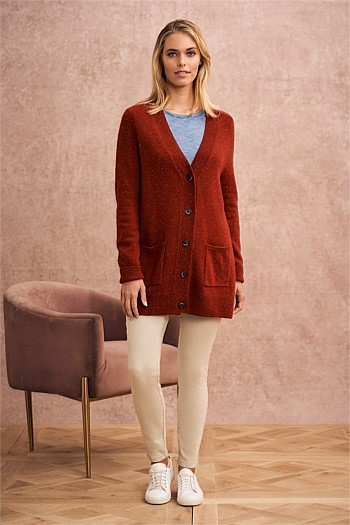 Wool Speckled Cardigan
